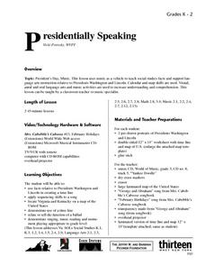 Presidentially Speaking Lesson Plan