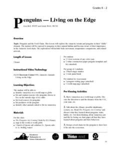 Penguins - Living on the Edge Lesson Plan
