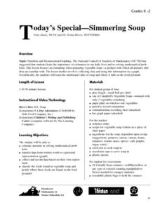 Today's Special - Simmering Soup Lesson Plan