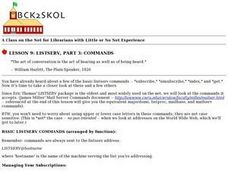 Listserv, Part 3: Commands Lesson Plan