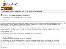 Email, Part 2: Addresses Lesson Plan