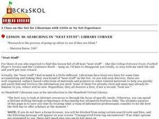 "Searching in ""Neat Stuff"": Library Corner Lesson Plan"