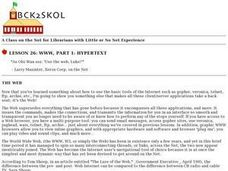 WWW, Part1: Hypertext Lesson Plan