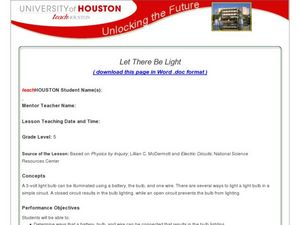 Let There Be Light Lesson Plan