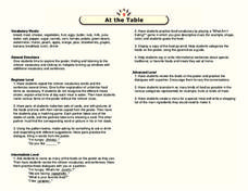 At the Table Lesson Plan