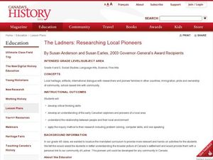 The Ladners: Researching Local Pioneers Lesson Plan