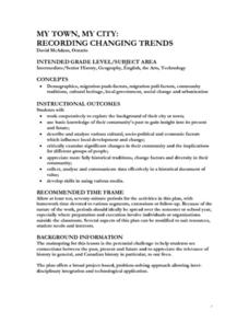 My Town, My City: Recording Changing Trends Lesson Plan