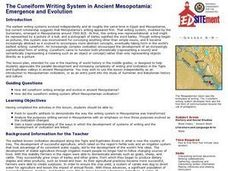 The Emergence and Evolution of the Cuneiform Writing System in Ancient Mesopotamia Lesson Plan