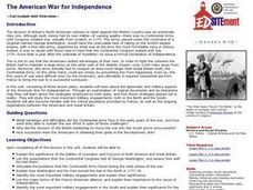 The American War for Independence Lesson Plan