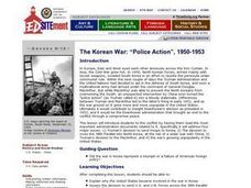 """Police Action"": The Korean War, 1950-1953 Lesson Plan"