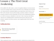 Lesson 1: The First Great Awakening Lesson Plan