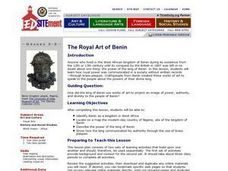 The Royal Art of Benin Lesson Plan