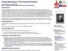 George Washington: The Precedent President Lesson Plan