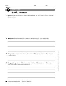 Atomic Structure Worksheet