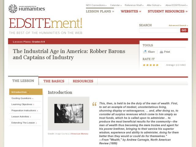The Industrial Age in America: Robber Barons and Captains of ...