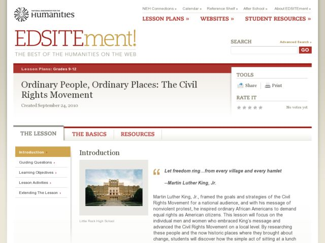 Ordinary People, Ordinary Places: The Civil Rights Movement Lesson Plan