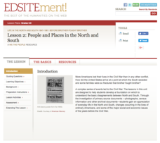 People and Places in the North and South Lesson Plan