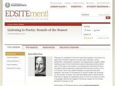 Listening to Poetry: Sounds of the Sonnet Lesson Plan