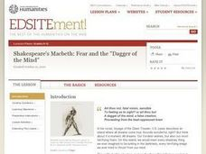 "Shakespeare's Macbeth: Fear and the ""Dagger of the Mind"" Lesson Plan"