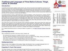 Traditions and Languages of Three Native Cultures: Tlingit, Lakota, and Cherokee Lesson Plan