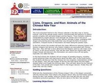 Lions, Dragons, and Nian: Animals of the Chinese New Year Lesson Plan