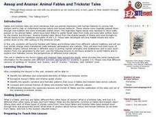 Aesop and Ananse: Animal Fables and Trickster Tales Lesson Plan