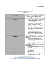 Music from Across America Lesson Plan