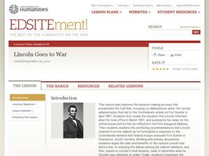 Lincoln Goes to War Lesson Plan
