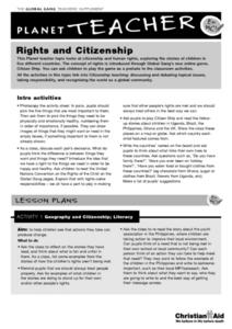 Rights and Citizenship Lesson Plan