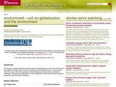 Environment -- Unit on Globalization and the Environment Lesson Plan