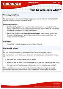 What Are Your Chocolate Eating Habits? Lesson Plan