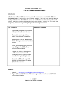 Unit on Globalization and Health Lesson Plan