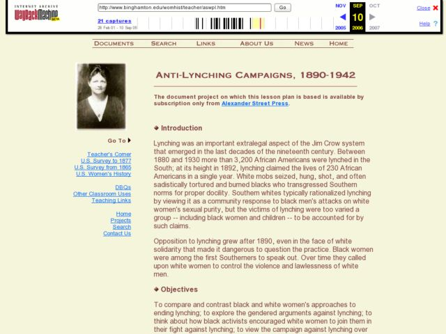 Anti-Lynching Campaigns, 1890-1942 Lesson Plan