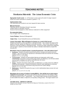 Morikatsu Shiroishi: The Asian Economic Crisis Lesson Plan