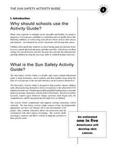 The Sun Safety Activity Guide Lesson Plan