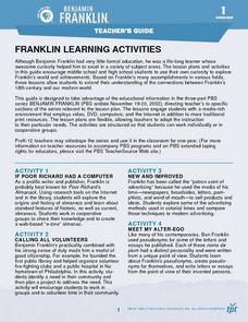 Franklin Learning Activities Lesson Plan