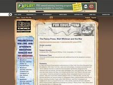 The Penny Press, Walt Whitman and the War Lesson Plan