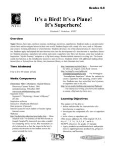 It's a Bird! It's a Plane! It's Superhero! Lesson Plan