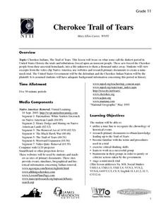 Cherokee Trail of Tears Lesson Plan