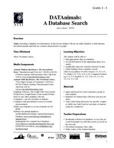 DATAnimals: A Database Search Lesson Plan