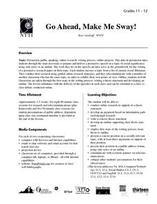 Go Ahead, Make Me Sway! Lesson Plan