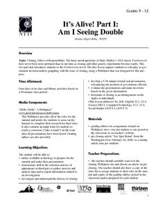 It's Alive! Part 1: Am I Seeing Double? Lesson Plan
