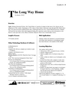 The Long Way Home Lesson Plan