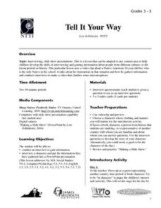 Tell It Your Way Lesson Plan