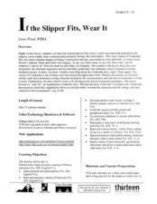 If the Slipper Fits, Wear It Lesson Plan