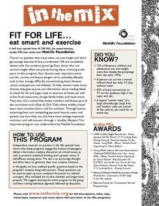 Fit For Life: Eat Smart and Exercise Lesson Plan