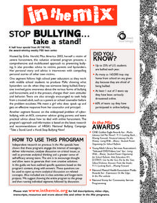 Stop Bullying: Take a Stand Lesson Plan