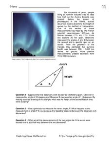 Aurora Borealis Worksheet