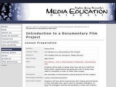 Introduction to a Documentary Film Project Lesson Plan