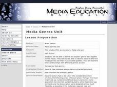 Media Genres Unit Lesson Plan